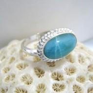 Ларимар Ювелирное кольцо овальный YO6 10074 Larimar-Stone