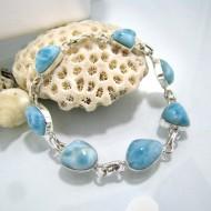 Larimar-Stone Yamir Bracelet 7 Stones Classic LC10 10224 89,00 €