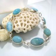 Larimar-Stone Yamir Bracelet 7 Stones Classic LC12 10226 69,00 €
