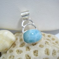 Ларимар kулон Leila свободной форме FR36 10213 Larimar-Stone
