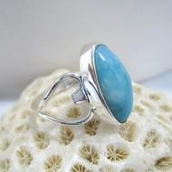 Ларимар Ювелирное кольцо овальный Lea YO7 10138 Larimar-Stone