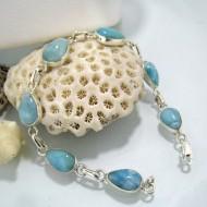 Larimar-Stone Yamir Bracelet 7 Stones Duygu 01 10228 69,00 €