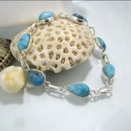 Larimar-Stone Yamir Bracelet 7 Stones Laura 02 10229 79,00 €