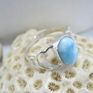 Ларимар Ювелирное кольцо овальный Ida YO9 10134 Larimar-Stone