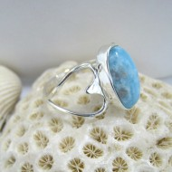 Larimar Ring Lia Oval Herz Y11