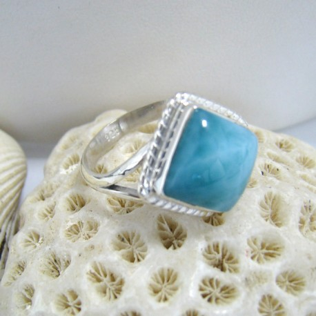 Larimar-Stone Ring Larimar Viereck Liv LV2 10131 59,00 €