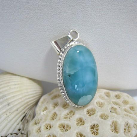 Ларимар ювелирные изделия кулон Lara OV05 10151 Larimar-Stone