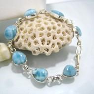 Larimar-Stone Yamir Bracelet 7 Stones Sarah LC11 10234 79,00 €