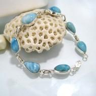 Larimar-Stone Yamir Bracelet 7 Stones Luisa 08 10236 79,00 €