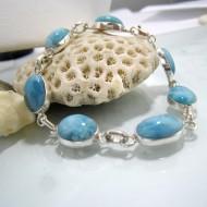 Larimar-Stone Larimar Bracelet 7 Stones Alina 09 10237 69,00 €