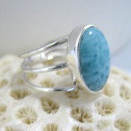 Larimar-Stone Larimar Ring Bar Oval Y10 10123 59,90 €