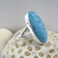 Ларимар Ювелирное кольцо овальный Bey Y11 10124 Larimar-Stone