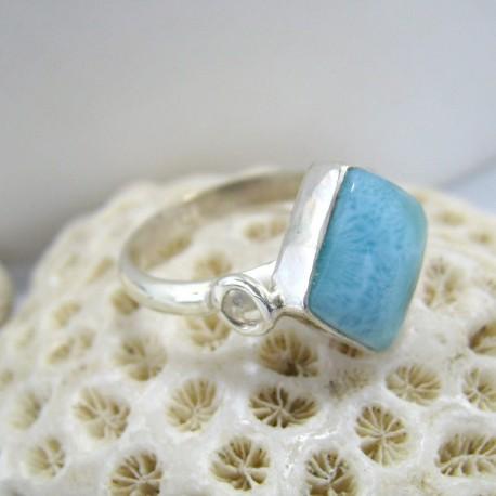 Ларимар Ювелирное кольцо четырехугольник Bex LV1 10126 Larimar-Stone
