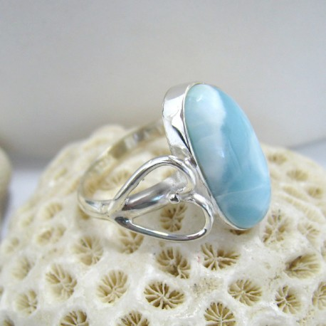 Larimar-Stone Larimar Ring Oval Heart Eni YR13 10116 59,90 €