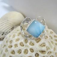 Ларимар Ювелирное кольцо четырехугольник EZO LV5 10115 Larimar-Stone