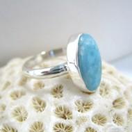 Ларимар Ювелирное кольцо овальный YO12 10082 Larimar-Stone