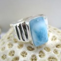 Larimar Luxury Ring Viereck Unisex YL1