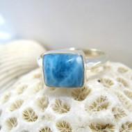 Ларимар Ювелирное кольцо четырехугольник LV9 10097 Larimar-Stone