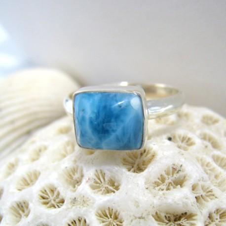 Larimar-Stone Ring Larimar Viereck LV9 10097 44,90 €