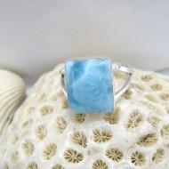 Larimar-Stone Ring Larimar Viereck LV11 10099 49,90 €