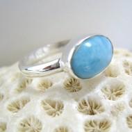 Ларимар Ювелирное кольцо овальный Y17 10101 Larimar-Stone