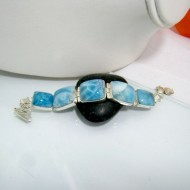 Larimar-Stone Yamir Bracelet 5 Stones YV4 10325 259,00 €