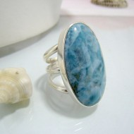 Larimar-Stone XXL Yamir Luxury Ring Oval Tripple YR3 10329 189,00 €