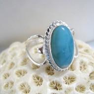 Larimar-Stone Larimar Ring Oval Heart YR14 10103 59,90 €