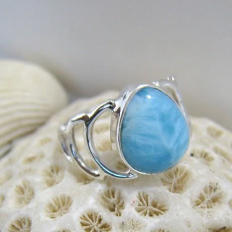 Larimar-Stone Larimar Ring Aki Tropfen YT6 10106 49,90 €