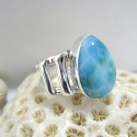 Larimar Luxury Ring Tropfen Unisex YL6