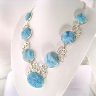 Larimar-Stone XXL Yamir Luxury Collier Necklace 9065 899,00 €