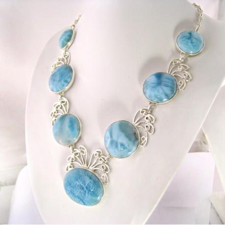 Larimar-Stone XXL Yamir Luxury Collier Necklace 9065 899,00 €