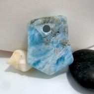Larimar Stone Polished with drilled hole SB86