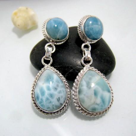 Larimar-Stone Larimar Earrings Round TR1 10444 89,99 €