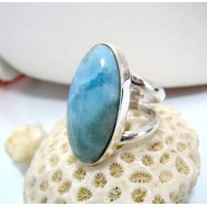 Larimar-Stone Larimar Yamir Luxury Ring Oval YR5 10456 139,00 €