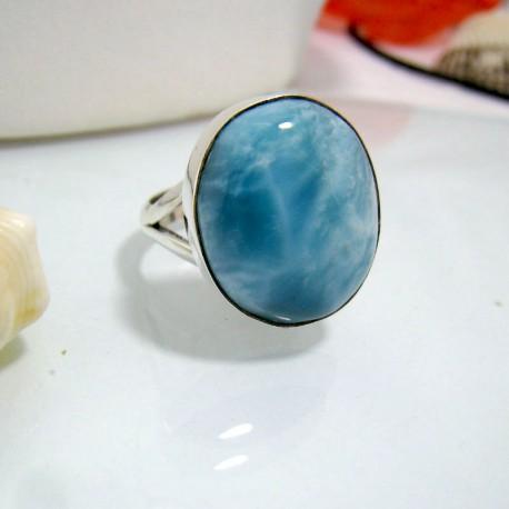 Larimar-Stone Larimar Ring Oval YO14 10457 49,00 €