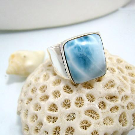 Larimar-Stone Larimar Ring Larimar Viereck Unisex 10 10459 89,00 €