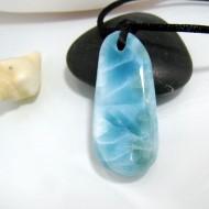 Larimar-Stone Larimar Stein mit Bohrung und Band SB96 10481 69,90 €