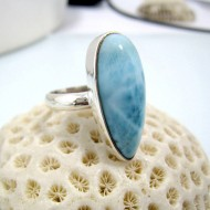 Ларимар Ювелирное кольцо YF8 10462 Larimar-Stone