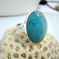 Ларимар Ювелирное кольцо овальный YO15 10463 Larimar-Stone