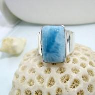 Ларимар Ювелирное кольцо четырехугольник 12 10465 Larimar-Stone