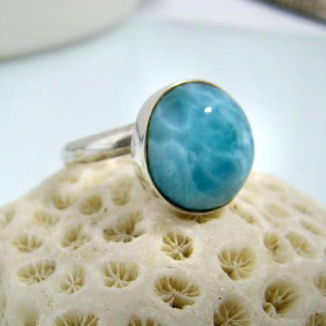 Larimar-Stone Larimar Ring Rund LR6 10468 49,00 €