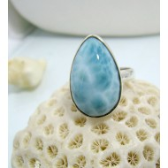 Larimar-Stone Larimar Ring Tropfen YF10 10470 59,90 €