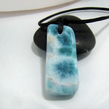Piedra Larimar perforada con cordón SB104 10489 Larimar-Stone 89,90 €