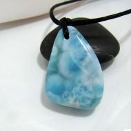 Ларимар камень пробурена с лентой SB105 10490 Larimar-Stone
