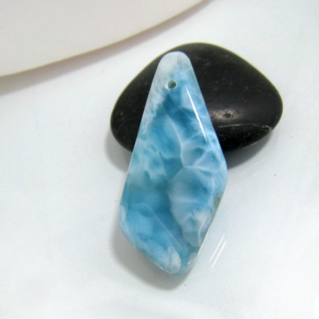 Larimar-Stone Larimar Stone Polished with drilled hole SB131a 10516 89,90 €