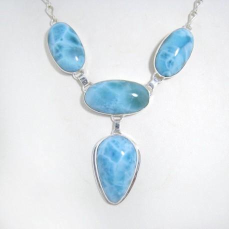 Larimar-Stone Edles XL Yamir Larimar Luxury Collier YC7 10578 599,00 €