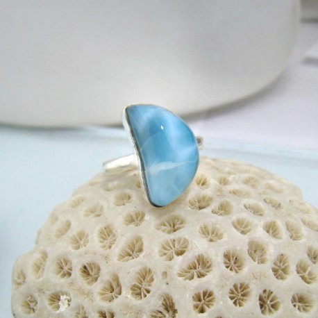 Larimar-Stone Larimar Ring Freeform YF13 10589 34,90 €