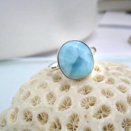 Larimar-Stone Larimar Ring Freeform YF14 10590 29,90 €