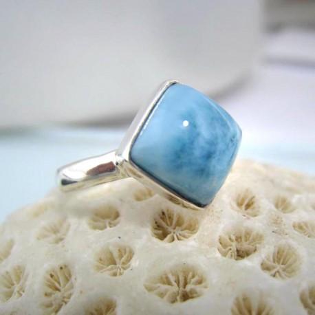 Larimar-Stone Ring Larimar Viereck LV13 10591 44,90 €